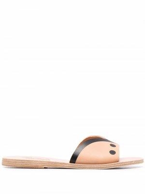 Шлепанцы Dinos с открытым носком Ancient Greek Sandals. Цвет: нейтральные цвета