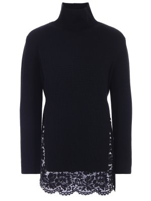 Шерстяной свитер с кружевом VALENTINO