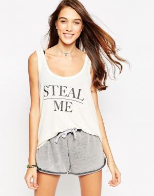 Майка Steal Me Wildfox. Цвет: винтажный кружевной