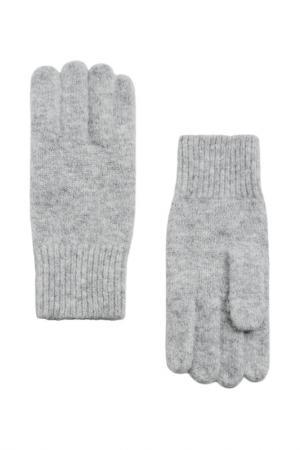 Перчатки MANGO. Цвет: серый