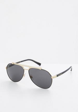 Очки солнцезащитные Dolce&Gabbana DG2189 01/87. Цвет: золотой