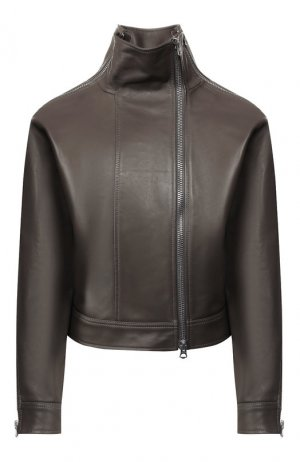 Кожаная куртка Acne Studios. Цвет: серый