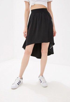 Юбка adidas Originals SATIN SKIRT. Цвет: черный