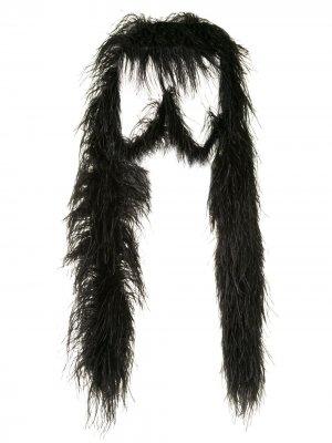 Шаль с отделкой перьями 16Arlington. Цвет: черный
