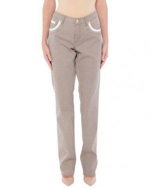 Джинсовые брюки ANGELO MARANI. Цвет: хаки