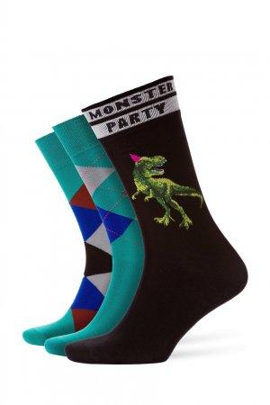 Набор из трех хлопковых носков Burlington. Цвет: multicolor