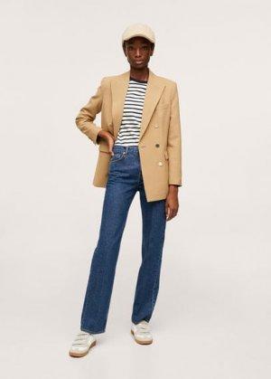 Прямые джинсы с посадкой на талии - Gala Mango. Цвет: темно-синий