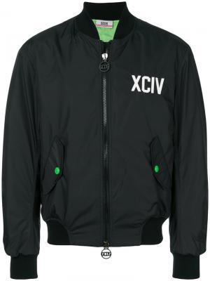 Куртка-бомбер с принтом-логотипом Gcds. Цвет: черный