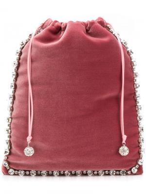 Декорированный клатч на шнурке Ca&Lou. Цвет: розовый
