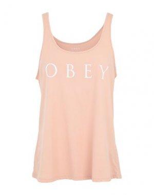 Майка OBEY. Цвет: розовый