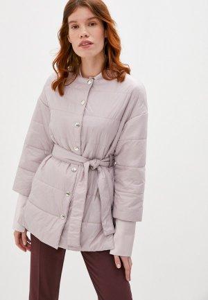 Куртка утепленная Patrizia Pepe. Цвет: розовый