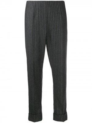 Укороченные брюки в тонкую полоску Antonio Marras. Цвет: серый