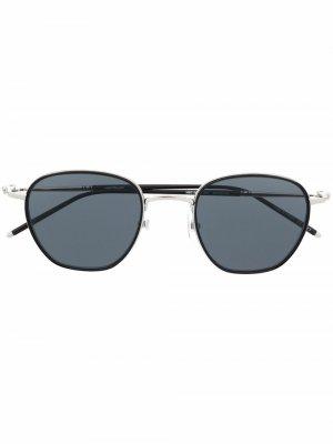Солнцезащитные очки в овальной оправе Montblanc. Цвет: черный