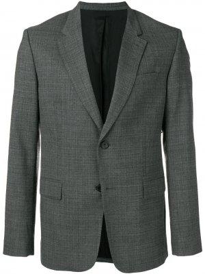 Пиджак на двух пуговицах AMI Paris. Цвет: черный