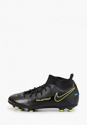 Бутсы Nike JR PHANTOM GT CLUB DF FG/MG. Цвет: черный