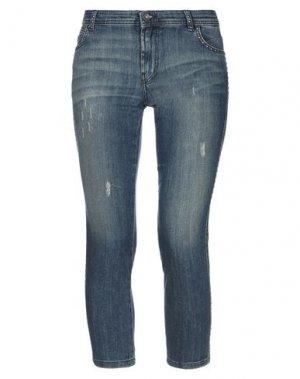 Джинсовые брюки-капри PIANURASTUDIO. Цвет: синий