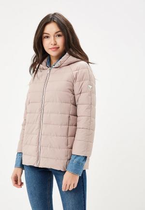 Куртка утепленная Grishko. Цвет: бежевый