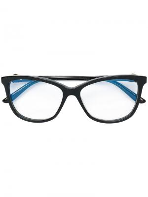 Солнцезащитные очки в квадратной оправе Cartier. Цвет: черный