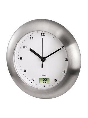 Часы  H-113914 Bathroom HAMA. Цвет: серебристый