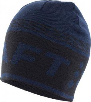 Шапка Logo Knit Craft. Цвет: синий