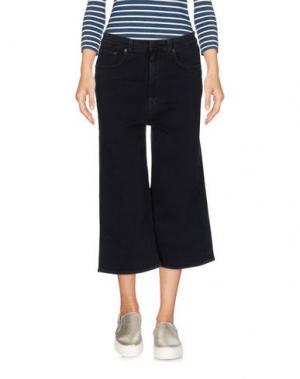 Джинсовые брюки-капри TOMBOY. Цвет: темно-синий