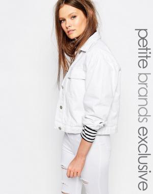 Джинсовая куртка Waven Petite. Цвет: белый