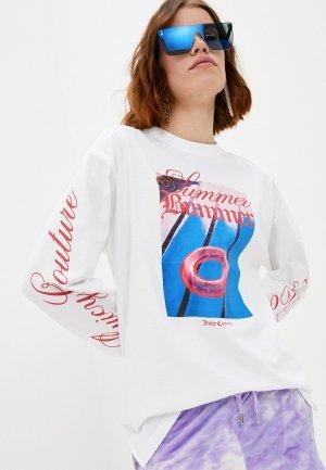 Лонгслив Juicy Couture. Цвет: белый