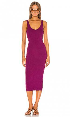 Платье-майка Enza Costa. Цвет: фиолетовый