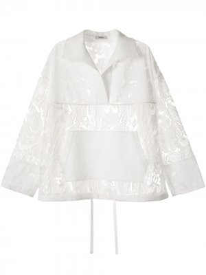 Сетчатый анорак с вышивкой Goen.J. Цвет: белый