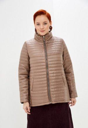 Куртка утепленная Очаровательная Адель. Цвет: коричневый