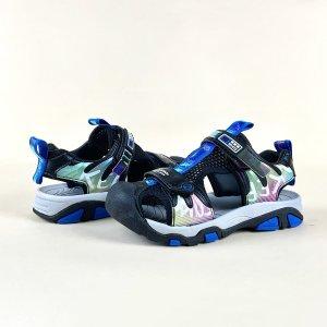 Контрастные спортивные сандалии для мальчиков SHEIN. Цвет: синий