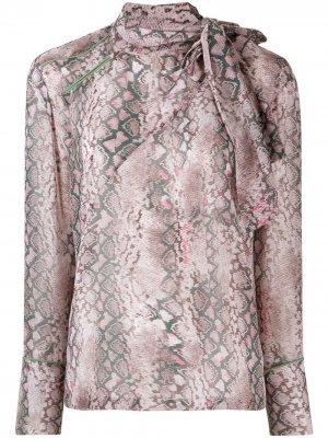Рубашка с узором A.F.Vandevorst. Цвет: серый