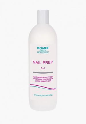 Обезжириватель для ногтей Domix и средство снятия липкого слоя 2 в 1 . NAIL PREP. Цвет: прозрачный