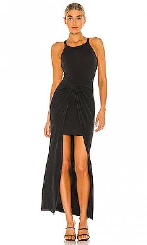 Макси платье sami ALLSAINTS. Цвет: черный