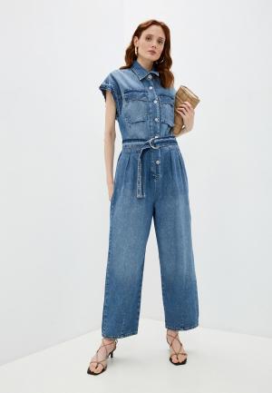 Комбинезон джинсовый Liu Jo. Цвет: голубой