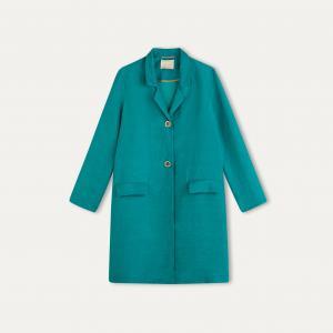 Пальто ENNA MOMONI. Цвет: бирюзовый
