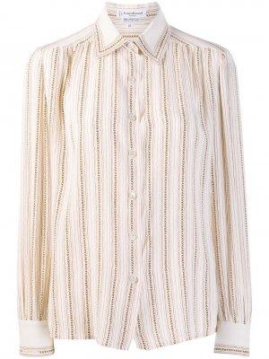 Полосатая рубашка 1970-х годов Louis Feraud Pre-Owned. Цвет: нейтральные цвета