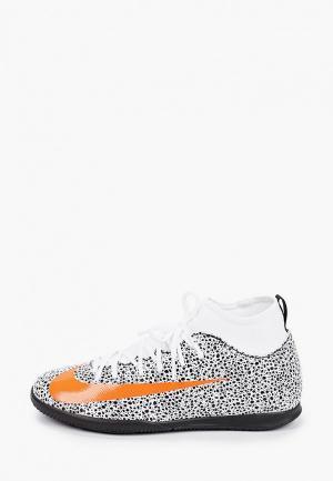 Бутсы зальные Nike JR SUPERFLY 7 CLUB CR7 IC. Цвет: белый