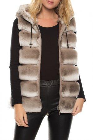Vest John & Yoko. Цвет: dark beige