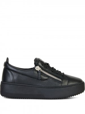 Массивные кроссовки с молниями Giuseppe Zanotti. Цвет: черный