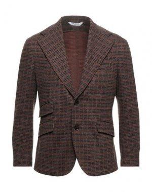 Пиджак BOTTEGA MARTINESE. Цвет: ржаво-коричневый