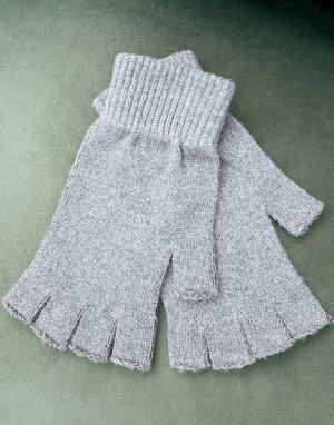 Перчатки без пальцев угольного цвета -Серый ASOS DESIGN