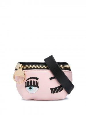 Декорированная сумка с ремешком-браслетом Chiara Ferragni. Цвет: розовый