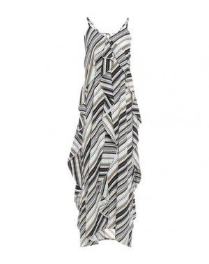 Длинное платье ICONA by KAOS. Цвет: белый