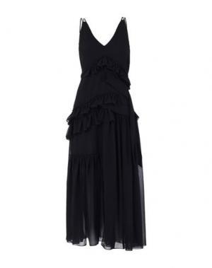 Длинное платье AQUILANO-RIMONDI. Цвет: черный