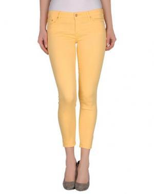Джинсовые брюки-капри MOTHER. Цвет: светло-желтый