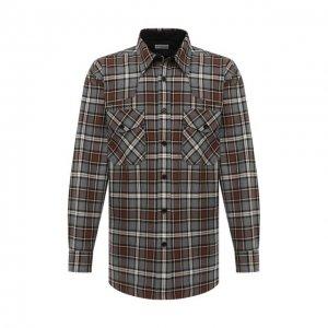 Хлопковая рубашка Dries Van Noten. Цвет: разноцветный