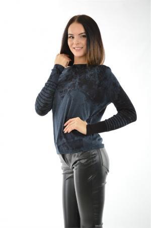 Блуза HIGH. Цвет: темно-синий