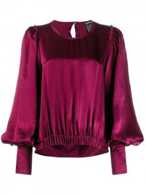Блузка с рукавами колокол Ann Demeulemeester. Цвет: красный