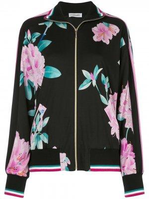 Куртка-бомбер Camelia с принтом Leonard. Цвет: черный